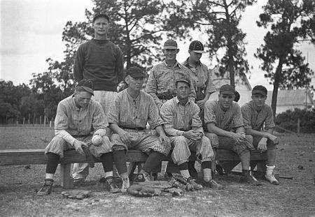 Ball team at Irwinville Farms, GA (John Vachon 1938)