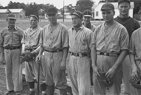 Ball team at Irwinville Farms, GA (John Vachon 1938) 2