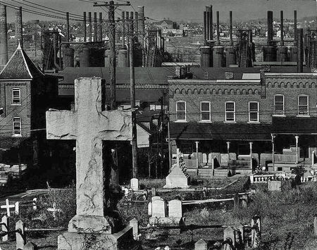 Graveyard and Steel Mill Walker Evans 1935 cropped