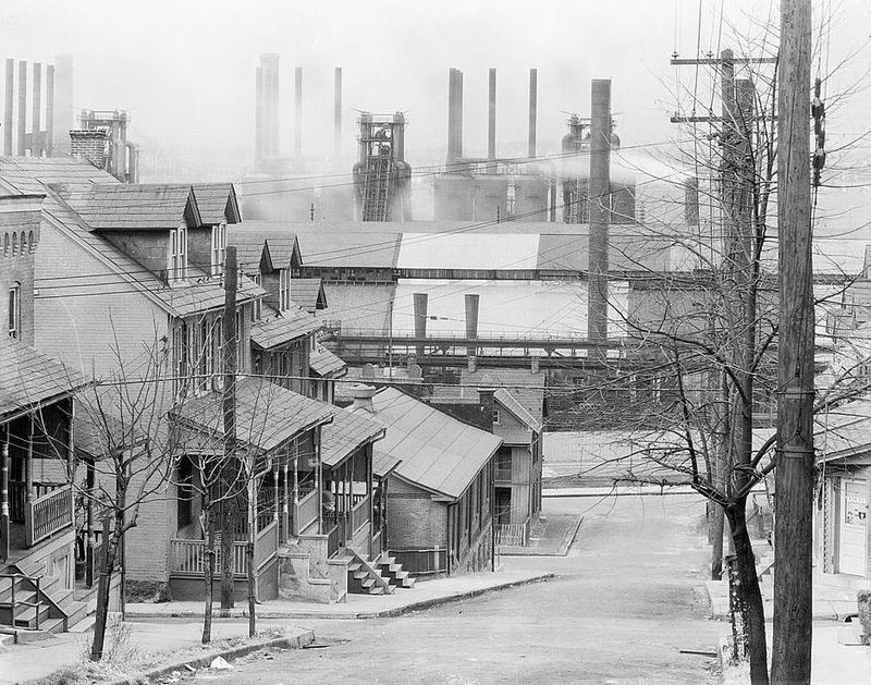 Bethlehem Houses and Steel Mill 1935 Walker Evans