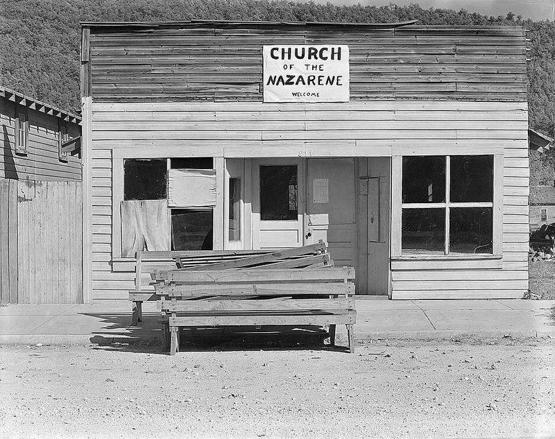 Church of the Nazarene. Tennesse Walker Evans 1936