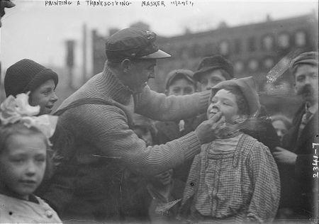 Thanksgiving Maskers (1910-1915) Bain News Service 6