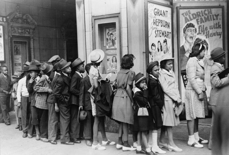 Chicago 1941 Edwin Rosskam movie theatre