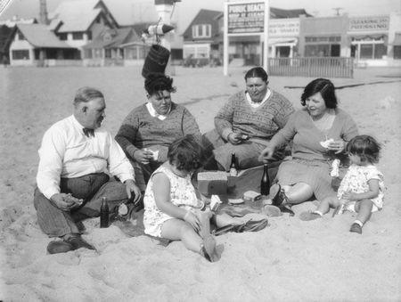 Family at venice beach 1930 c