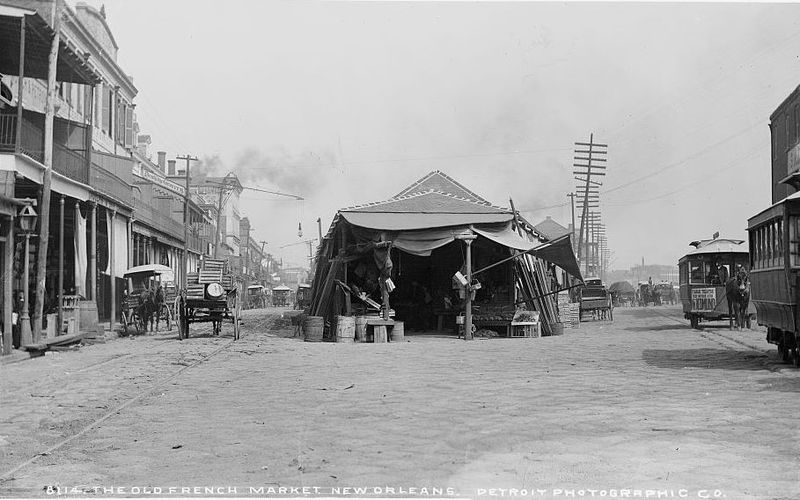 The Old French Market New Orleans William Henry Jackson circa 1880