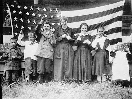 Deaf children of St. Rica's School, Cincinnati, singing Star Spangled Banner 1918 1928