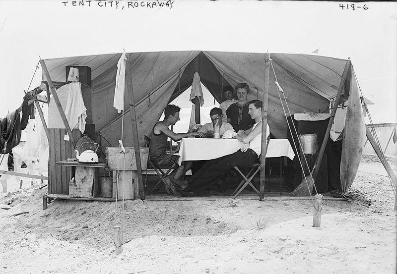 Tent City Far Rockaway Beach NY
