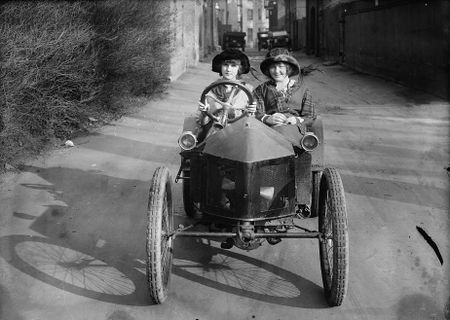 Kids driving c 1910