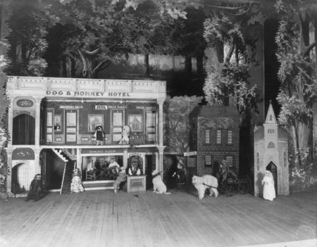 Trained Dogs and Monkeys run a dog and monkey hotel 1915