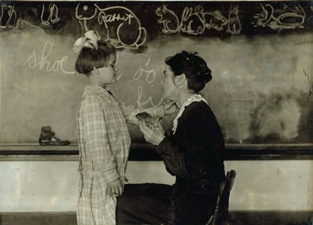 Training School for Deaf Sulphur, Oklahoma lewis hine 1917