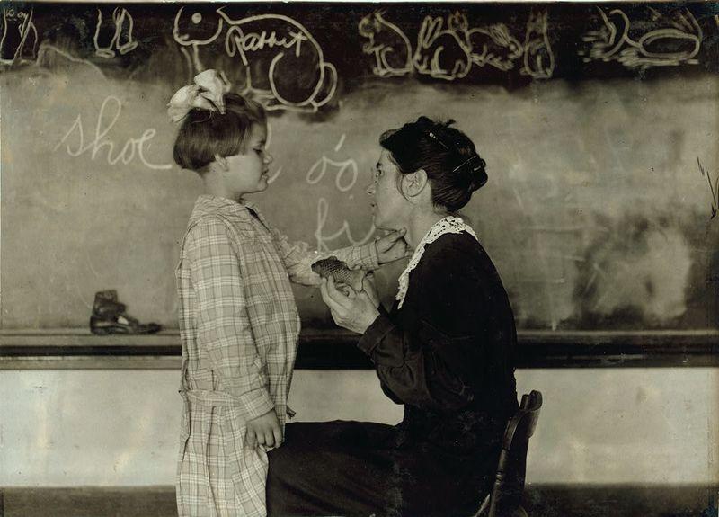 Training School for Deaf Sulphur, Oklahoma lewis hine 1917
