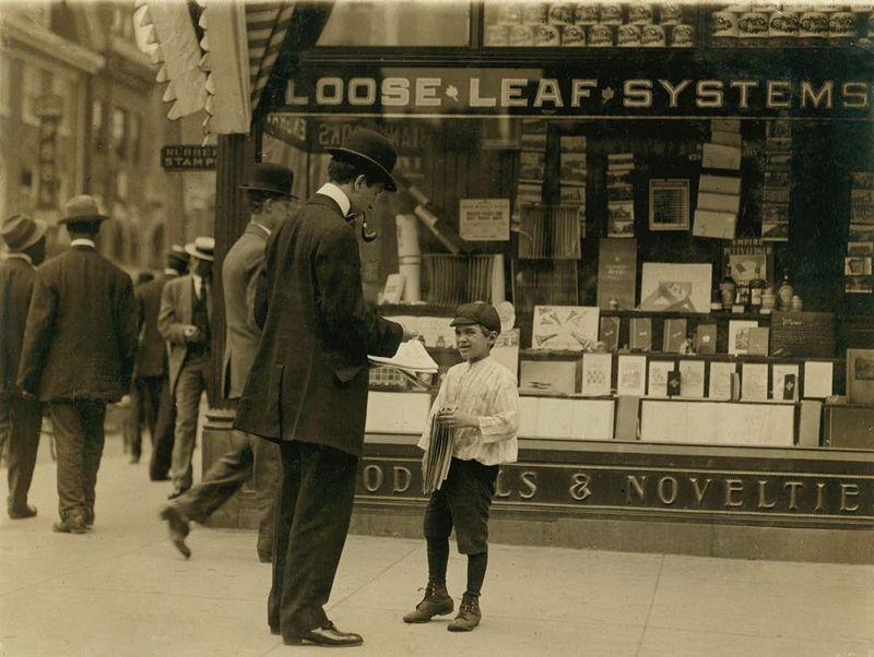 Wilmington, Delaware newsboys 1910 lewis hine