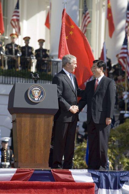 Bush Chinese flag