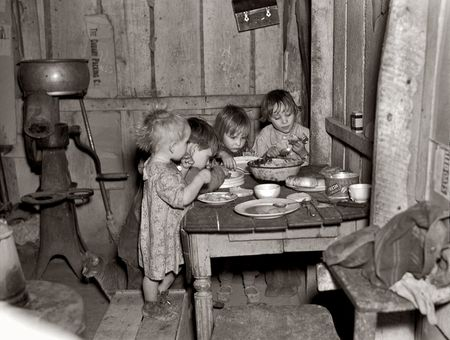 Christmas dinner at the home of earl pauley near smithfield iowa 1936 russell lee
