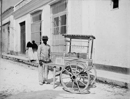 Ice cream vendor Havana 1890 1910