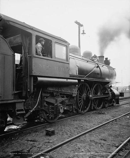 An engineer at his post 1904