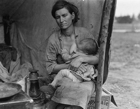 Migrant Mother series by Dorothea Lange Nipomo 1933