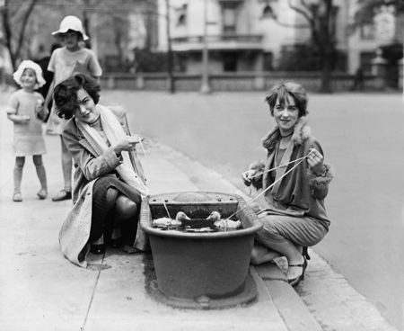 Ducks in watering trough, 4 21 27