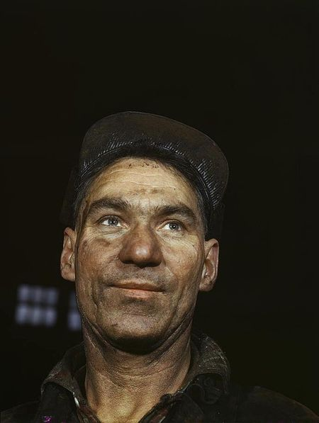 Vintage photo railroad worker