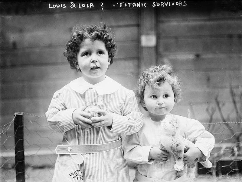 Titanic Suvrivors April of 1912