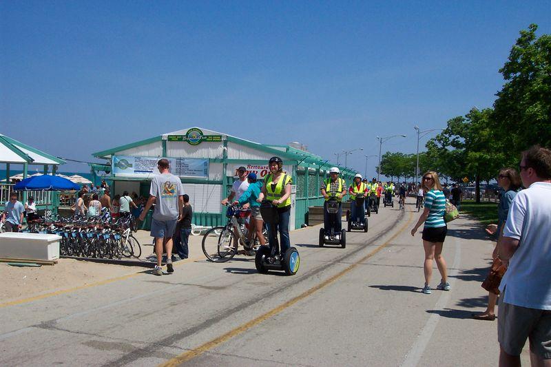 Segway Riders Oak Street Beach