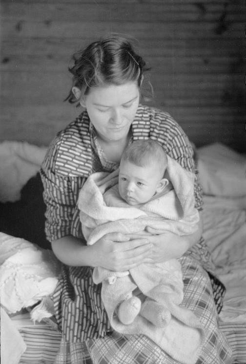 Mrs Louis Lynch Johnston County, North Carolina arthur Rothstein 1936 red