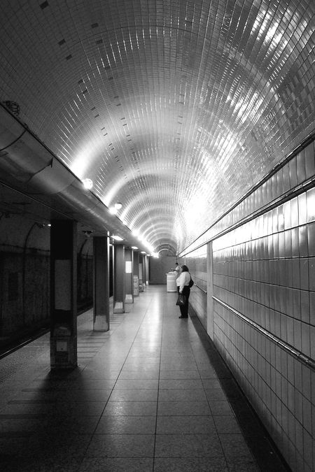 Stae And Grand Underground Station b and w