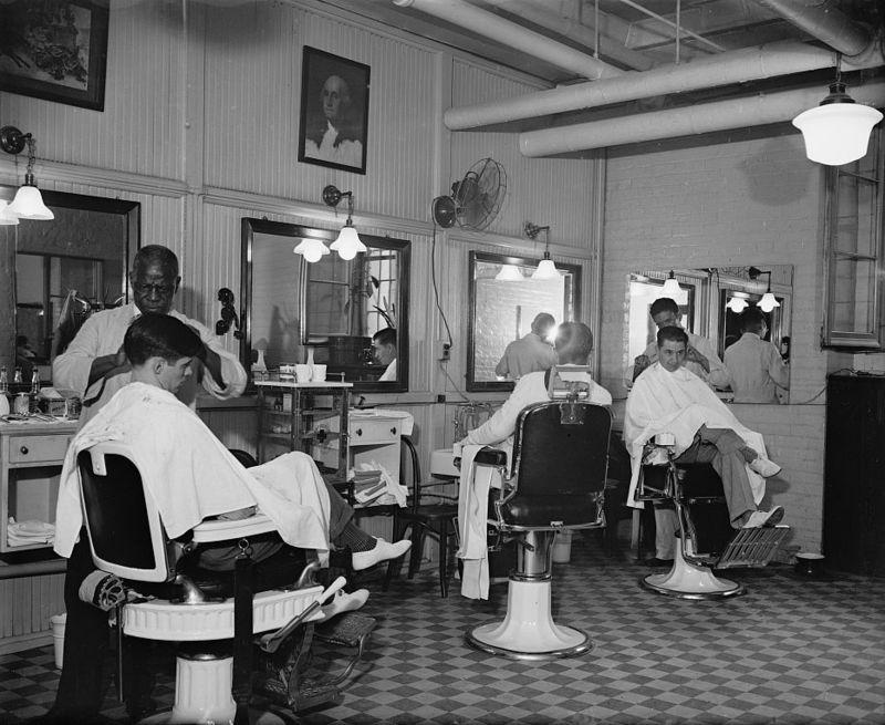 Senate building Barbershop 1937 Harris and Ewing photography