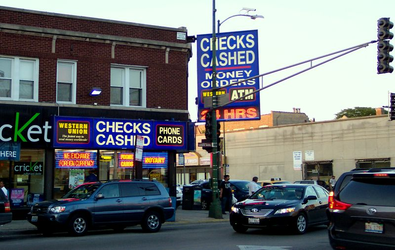 Currency Exchange Devon and Western West Rogers Park Chicago