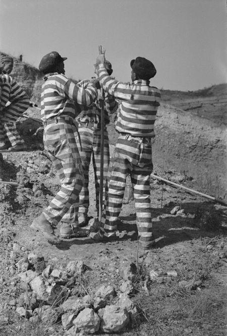 8a08405vNegro road gang, Jefferson County, Alabama  Arthur Rothstein 1937