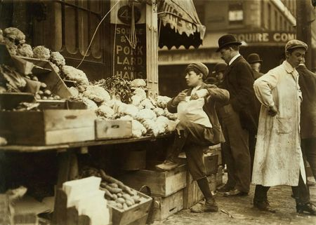 In business for himself. Boston, Lewis Wickes Hine