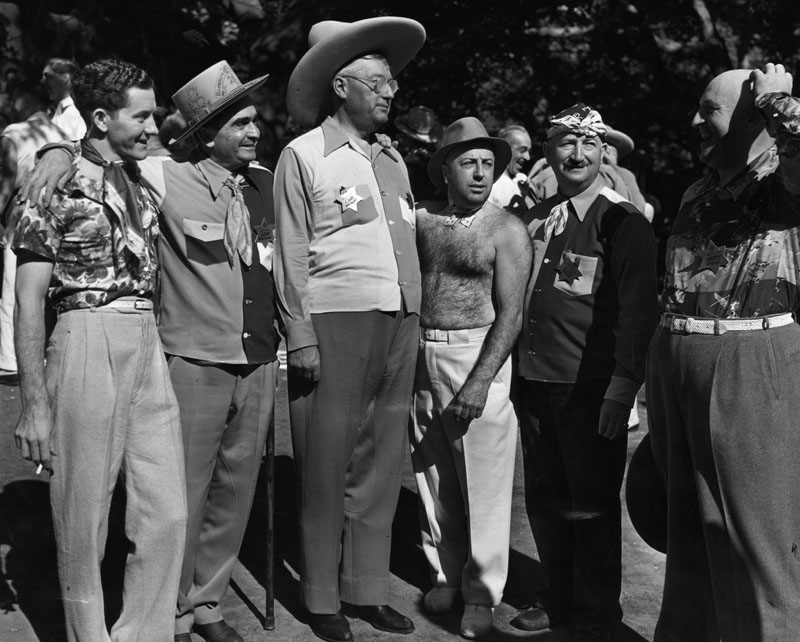Uplifters a club at the la athletic club has a loud shirt contest 1937