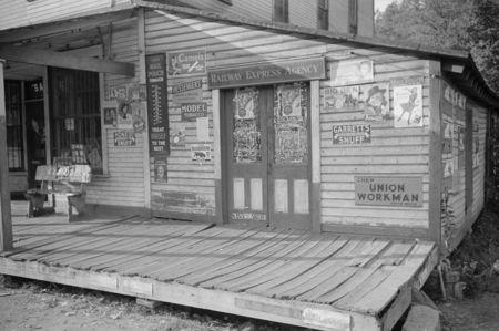 Storefront, coal mining camp, Scotts Run, West Virginia