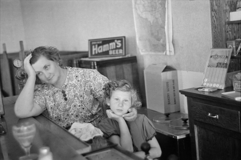 Mother and daughter in saloon-restaurant, Gemmel, Minnesota. The mother is the proprietor