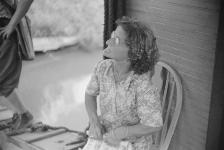 Wife of WPA (Works Progress Administration) worker living on riverboat, Charleston, West Virginia