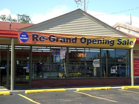 Re-grand opening sale