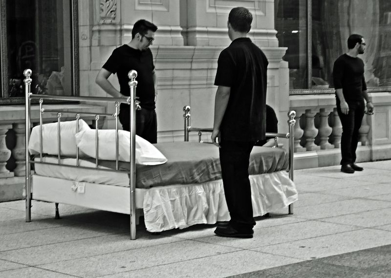 The Bed In Wrigley Plaza