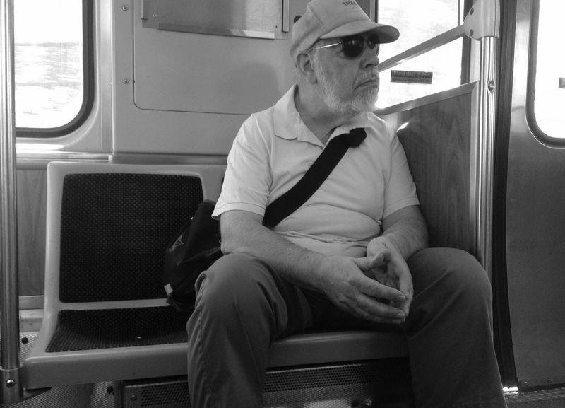 Man on train 1