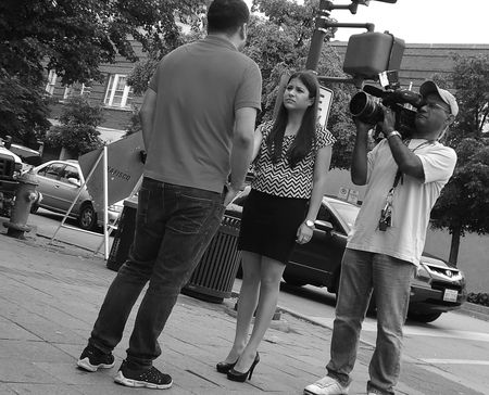 Interview Murder Scene BW
