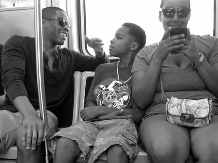 Family on the Red Line