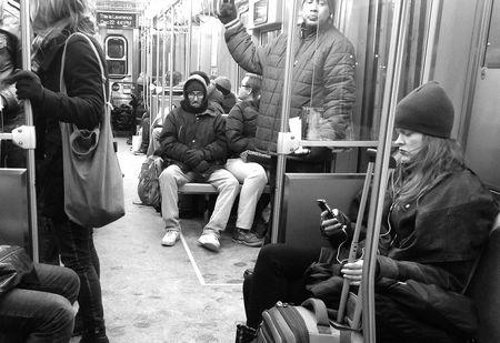 Chicago photo on L train
