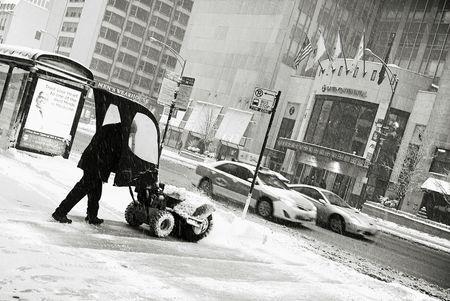 Snow michigan avenue chicago