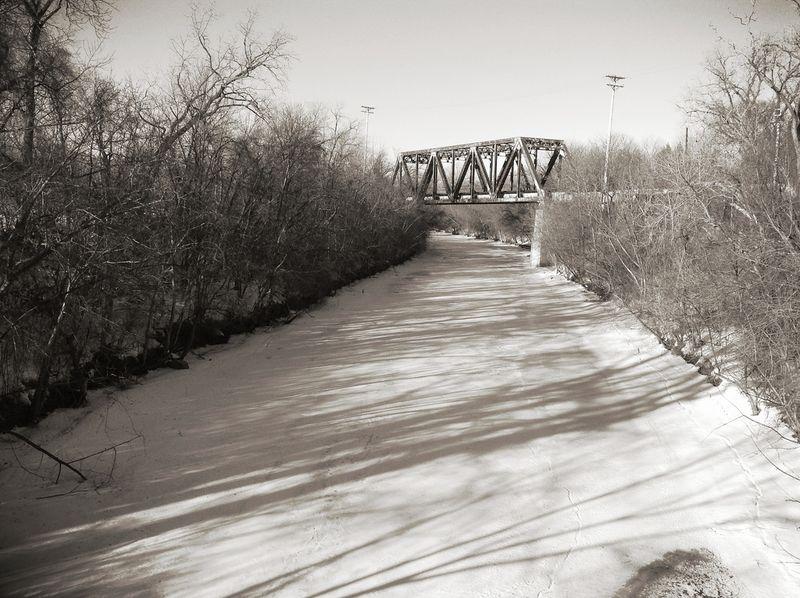 The bridge, b&w