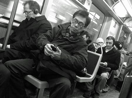 Chicago L Train passengers