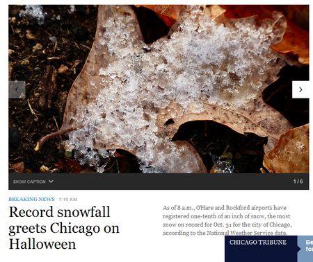 Record snowfall