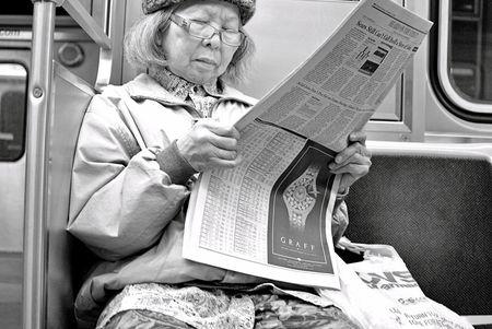 Chicago Red Line L Train passenger