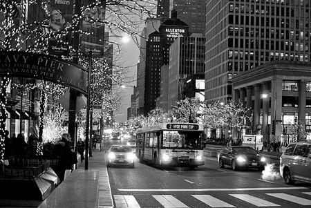 Hyde Park Bus on Michigan Avenue December 11, 2014