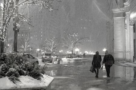 Michigan Avenue Snow Shower
