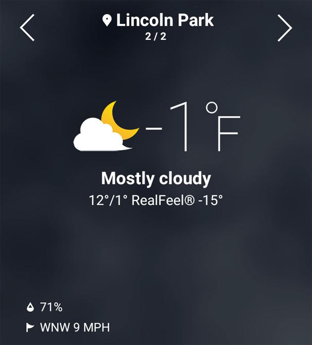 Morning Temperature December 26  2017