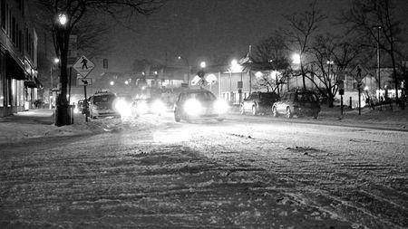 Snowy Thursday Night Chicago Photos